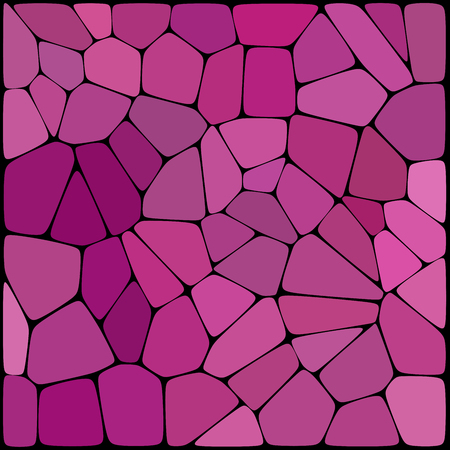 Pink abstract background consisting of pink geometrical shapes with thick black borders, vector illustration. Illustration