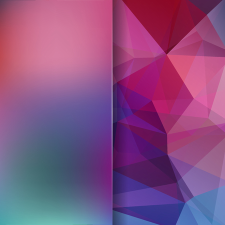 Abstract mosaic background. Blur background. Triangle geometric background. Design elements. Vector illustration. Pink, purple, red, blue, green colors. Illustration