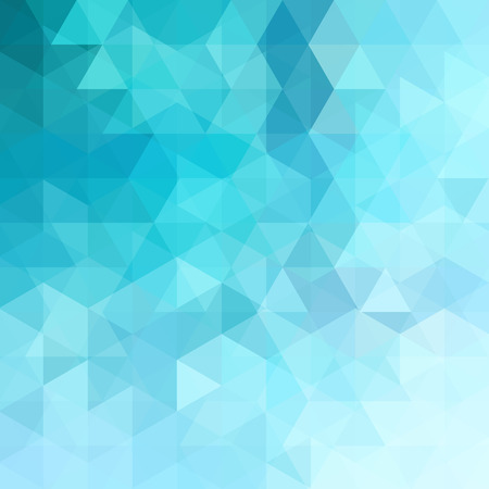 Background of blue geometric shapes. Abstract triangle geometrical background. Mosaic pattern.  Vector illustration