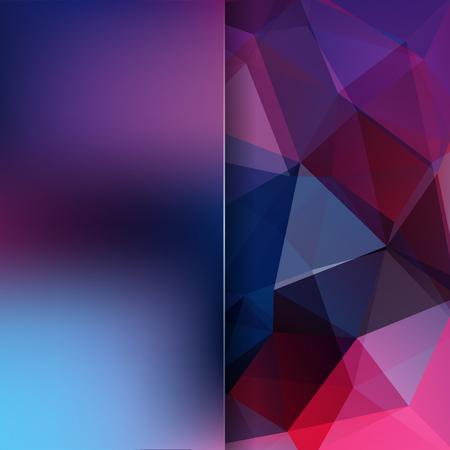 Abstract geometric style purple background. Blue business background Blur background with glass. Vector illustration