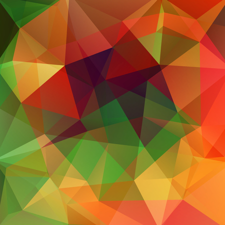 Polygonal vector background. Can be used in cover design, book design, website background. Vector illustration. red, orange, green