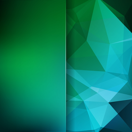 Abstract background consisting of green, blue triangles. Geometric design for business presentations or web template banner flyer. Vector illustration