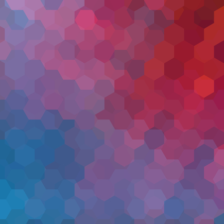 Abstract hexagons vector background. Colorful geometric vector illustration. Creative design template. Blue, red colors.