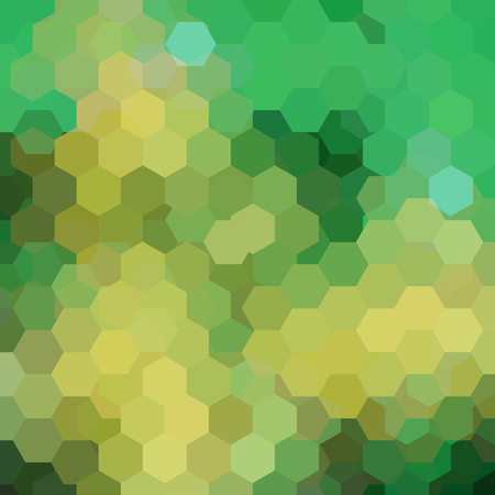 Background made of green hexagons. Square composition with geometric shapes. Eps 10 Illustration