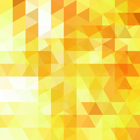 Abstract vector background with white, yellow, orange triangles. Geometric vector illustration. Creative design template.