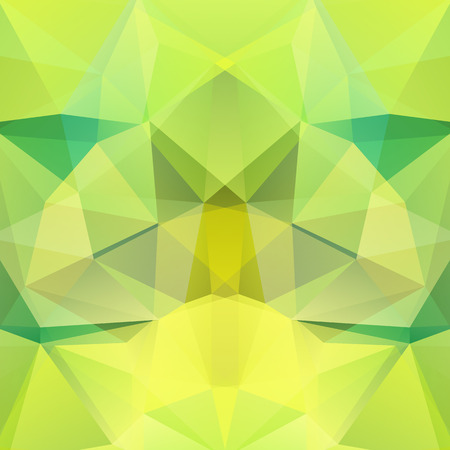 Abstract mosaic background. Triangle geometric background. Design elements. Vector illustration. Green color. Illustration