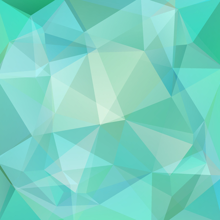 Polygonal vector background. Can be used in cover design, book design, website background. Vector illustration. Pastel blue, green colors. Ilustrace