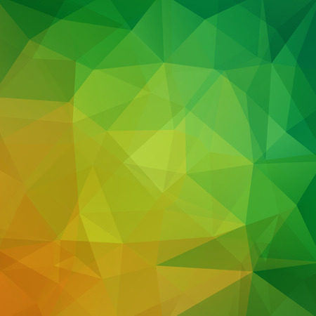 Polygonal vector background. Can be used in cover design, book design, website background. Vector illustration. Orange, brown colors.