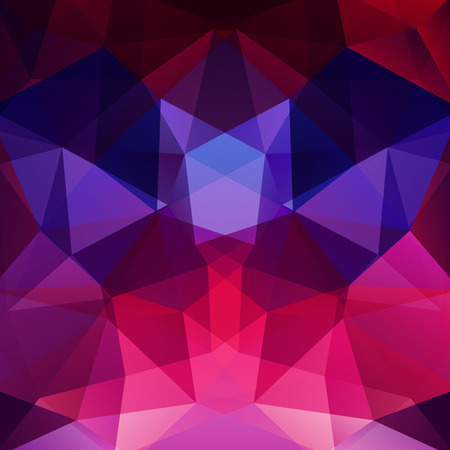 Background of pink, purple, blue geometric shapes. Mosaic pattern.Vector illustration