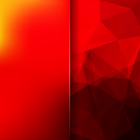 Polygonal vector background. Blur background. Can be used in cover design, book design, website background. Vector illustration. Red, orange colors.