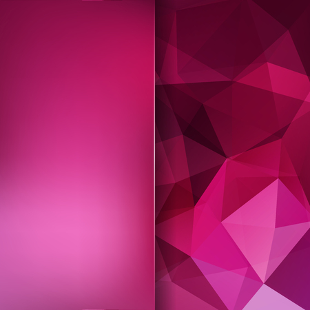 Abstract mosaic background. Blur background. Triangle geometric background. Design elements. Vector illustration. Pink, purple colors.