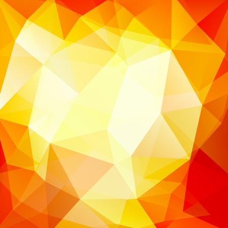 Geometric pattern, polygon triangles vector background in yellow, white, orange ' tones. Illustration pattern