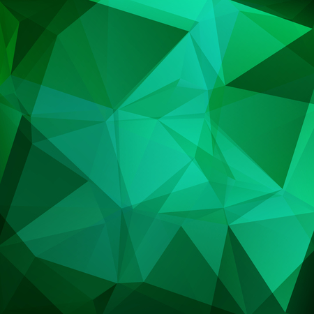 Abstract green mosaic background. Triangle geometric background. Design elements. Vector illustration