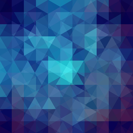 Background of dark blue geometric shapes. Abstract triangle geometrical background. Mosaic pattern. Vector illustration