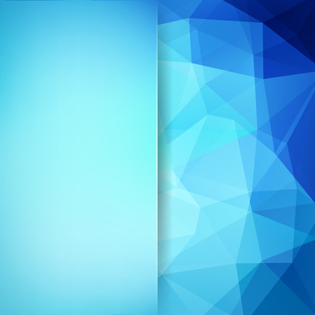 Background of geometric shapes. Blur background with glass. Blue mosaic pattern.Vector illustration Illustration