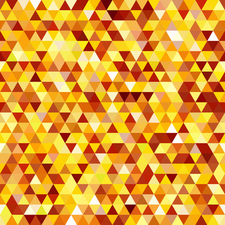 Abstract seamless mosaic background. Triangle geometric background. Vector illustration. Yellow, orange, brown colors. Illustration