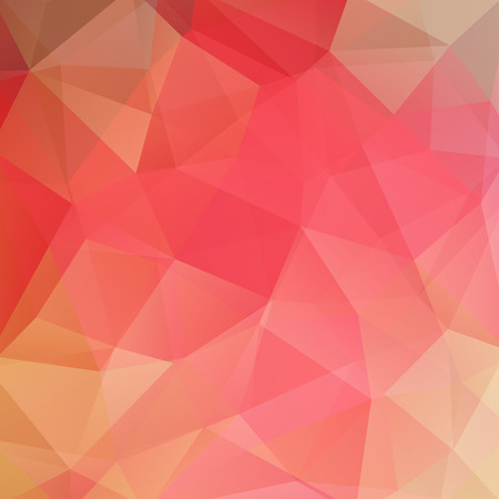 Geometric pattern, polygon triangles vector background in pink, orange, red, yellow tones. Illustration pattern Stock Illustratie