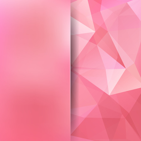 Abstract mosaic background. Blur background. Triangle geometric background. Design elements. Vector illustration. Pastel pink color