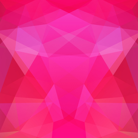 Background made of pink triangles. Square composition with geometric shapes.