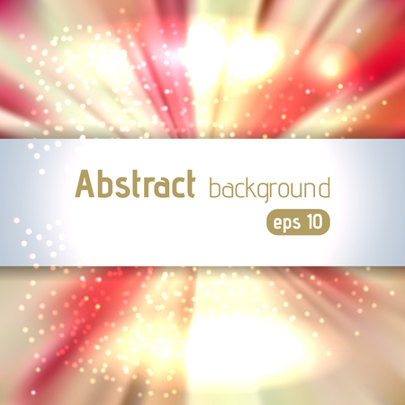Vector illustration of abstract background with blurred magic light rays, vector illustration. Yellow, red colors. 写真素材 - 124904707