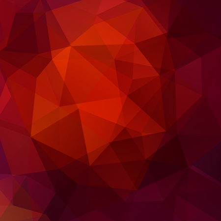 Background of red, orange, purple geometric shapes. Mosaic pattern. Vector illustration