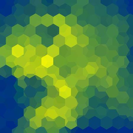 Abstract hexagons vector background. Green geometric vector illustration. Creative design template.