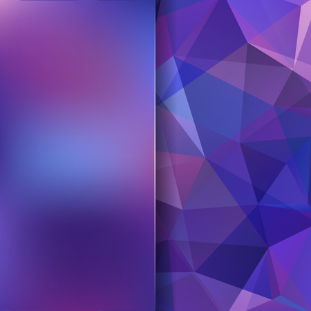 Abstract background consisting of purple triangles. Geometric design for business presentations or web template banner flyer. Vector illustration