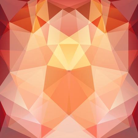 Background of geometric shapes. Orange mosaic pattern. Vector illustration Illustration