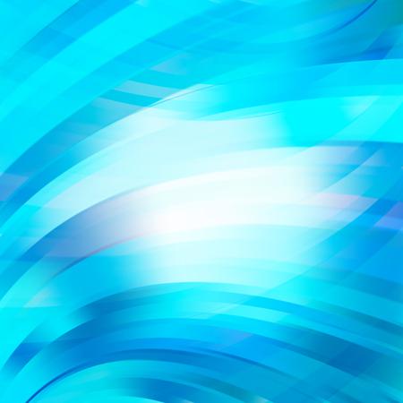 Glatter heller Linienhintergrund. Blau, weiß' Farben. Vektor-Illustration.