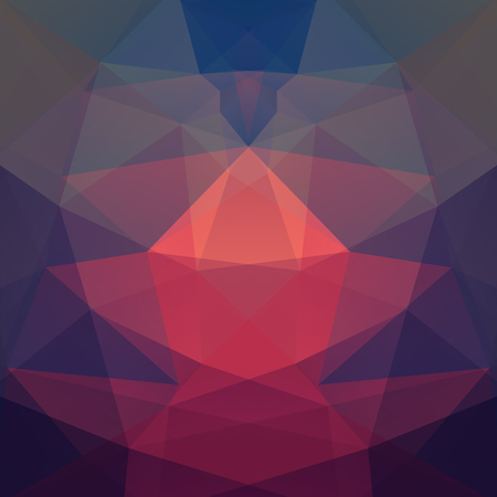 Geometric pattern, polygon triangles vector background in pink, purple, blue ' tones. Illustration pattern