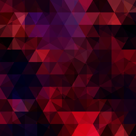 Triangle vector background. Can be used in cover design, book design, website background. Vector illustration. Dark red, black colors. Illusztráció