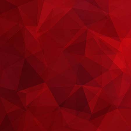 Abstract red mosaic background. Triangle geometric background. Design elements. Vector illustration Vetores