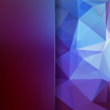 Polygonal vector background. Blur background. Can be used in cover design, book design, website background. Vector illustration. Purple, blue colors.