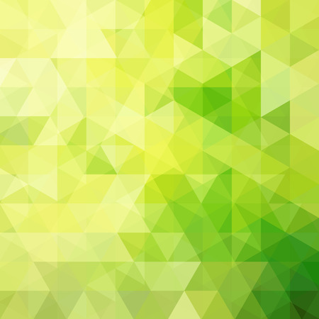 Background of green geometric shapes. Abstract triangle geometrical background. Mosaic pattern. Vector illustration