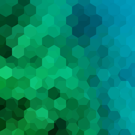 Background of blue, green geometric shapes. Mosaic pattern. Vector EPS 10. Vector illustration