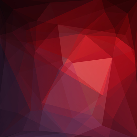 Background of brown, purple, red geometric shapes. Mosaic pattern. Vector illustration