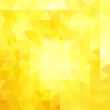 Background of yellow geometric shapes. Abstract triangle geometrical background. Mosaic pattern. Vector illustration