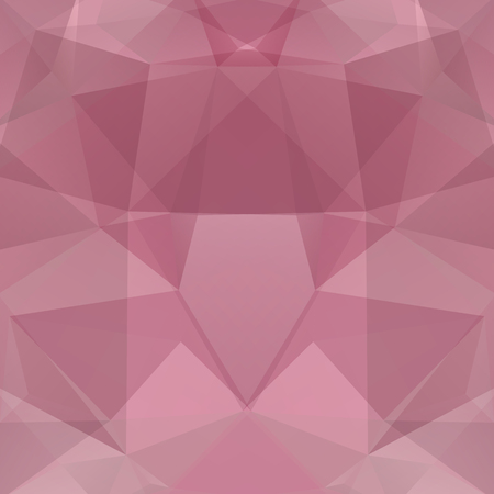 Geometric pattern, polygon triangles vector background in pink tone. Illustration pattern Illustration