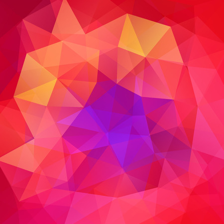 Abstract background consisting of pink, purple, red triangles. Geometric design for business presentations or web template banner flyer. Vector illustration Illustration