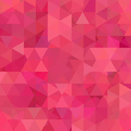 Geometric pattern, triangles vector background in pink, red tones. Illustration pattern