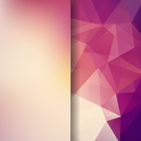 Abstract polygonal vector background. Geometric vector illustration. Creative design template. Abstract vector background for use in design. Purple, brown, white, yellow colors.
