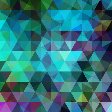 Abstract geometric style background. Blue, green colors. Vector illustration Ilustrace