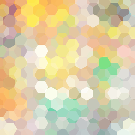 Vector background with pastel yellow, beige, gray hexagons. Can be used in cover design, book design, website background. Vector illustration