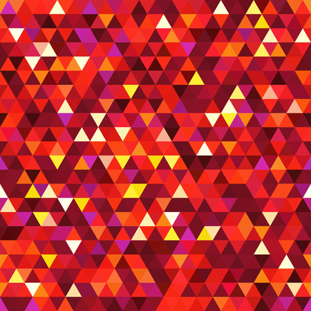 Abstract background consisting of red, orange triangles. Geometric design for business presentations or web template banner flyer. Illustration pattern.