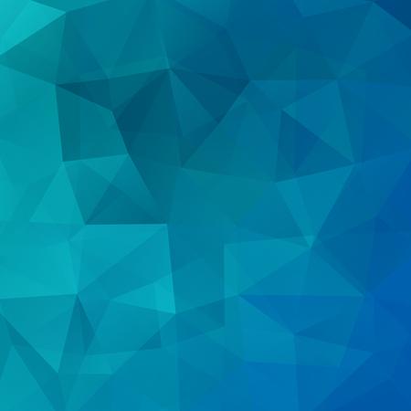 Geometrische patroon, veelhoek driehoeken vector achtergrond in blauwe toon. Illustratie patroon