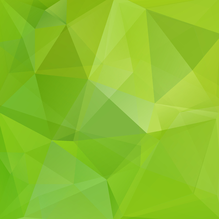 Green polygonal vector background. Can be used in cover design, book design, website background. Vector illustration