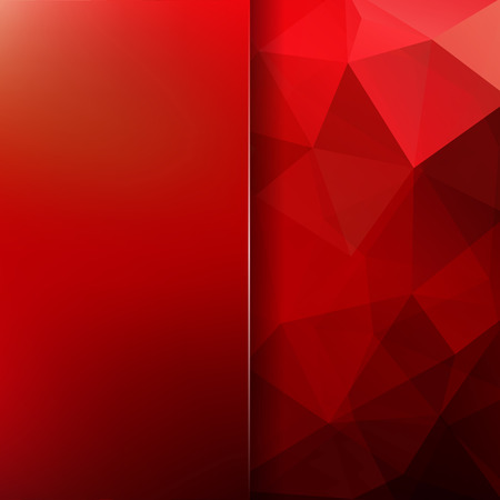 Abstract mosaic background. Blur red background. Triangle geometric background. Design elements. Vector illustration