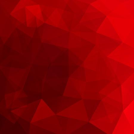 Sfondo astratto costituito da triangoli rossi. Design geometrico per presentazioni aziendali o volantino di banner modello web. Illustrazione vettoriale Vettoriali