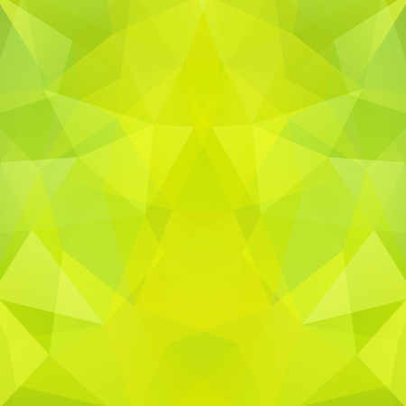 Geometric pattern, polygon triangles vector background in green, yellow tones. Illustration pattern