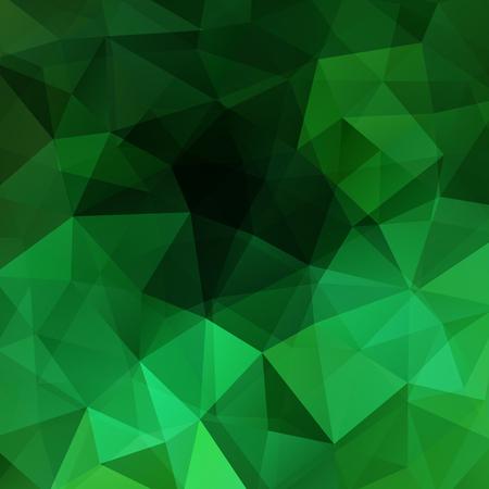 Fondo verde de estilo geométrico abstracto. Ilustración vectorial